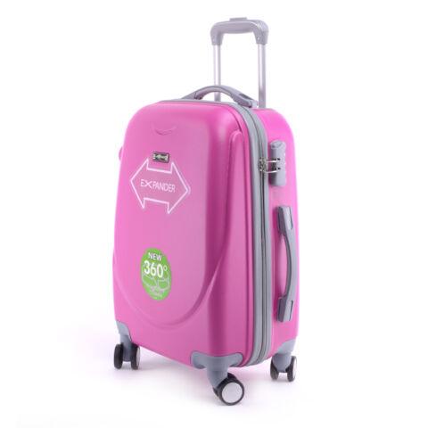 Fukszia Kemény Nagy Méretű Bőrönd (4 Kerekű)