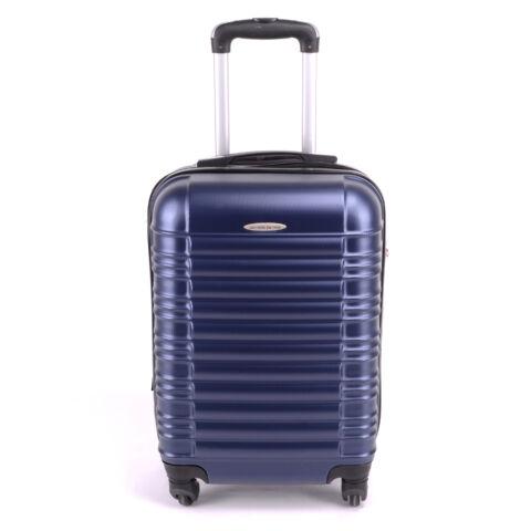 Leonardo Da Vinci Kemény Bőrönd Kék 55Cm X 34Cm X 23Cm