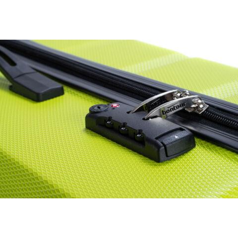 Bontour Spinner Zöld  Négy kerekű Kemény falú Nagy méretű bőrönd - 2 Év Garancia