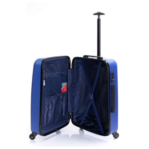 Bontour Kék Könnyű Kemény Négy kerekű Kabinbőrönd - 2 Év Garancia