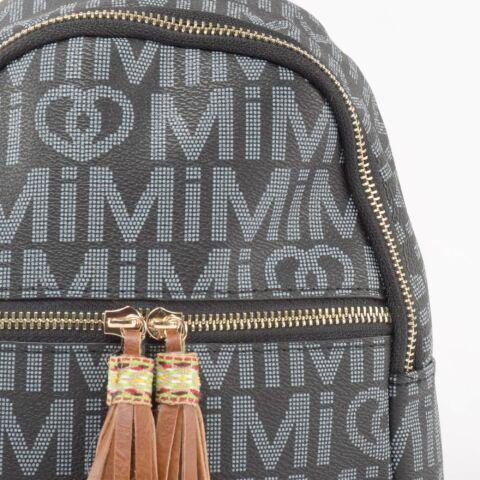 Besty Női Kisméretű Fekete Műbőr hátizsák