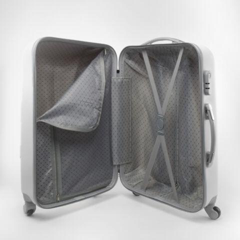 Fehér kemény falú kabin bőrönd