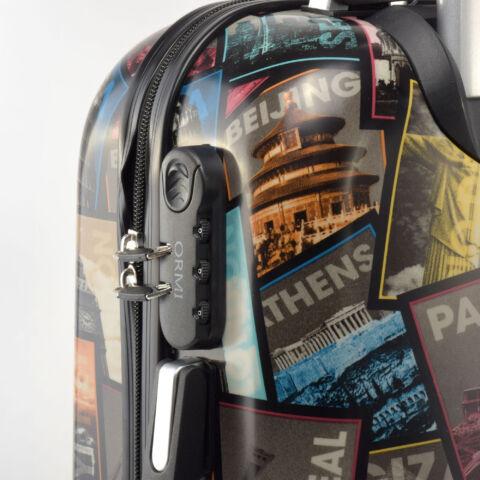 Ormi Fekete Képeslap Mintás Kemény Kabin Bőrönd