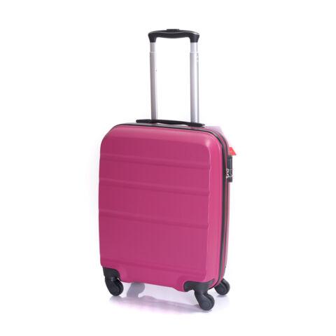 Bontour Fukszia Kemény Wizz Air, Ryanair Méretű ABS Kabinbőrönd (55x40x20 cm)