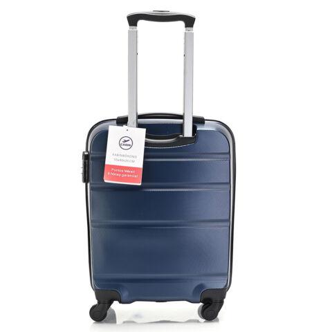Bontour Sötétkék Kemény Wizz Air, Ryanair Méretű ABS Kabinbőrönd (55x40x20 cm)