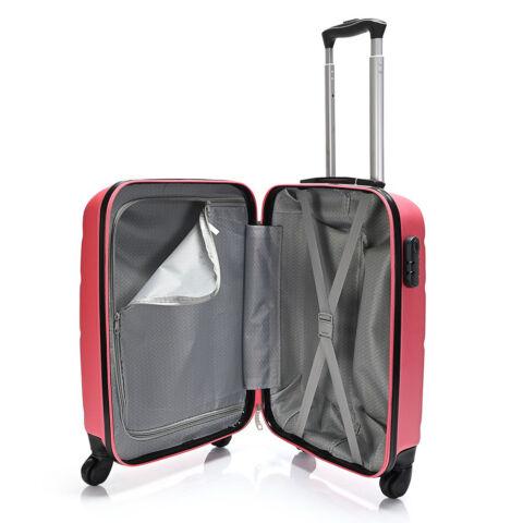 Bontour Rózsaszín Kemény Wizz Air, Ryanair Méretű ABS Kabinbőrönd (55x40x20 cm)