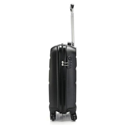 Bontour Fekete Kemény Wizz Air, Ryanair Méretű ABS Kabinbőrönd (55x40x20 cm)