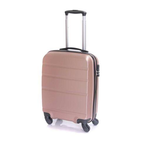 Bontour Rózsaarany Kemény Wizz Air, Ryanair Méretű ABS Kabinbőrönd (55x40x20 cm)