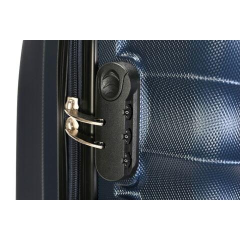 Bontour Kék Kemény ABS Közepes Bőrönd
