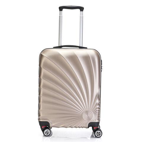 Bontour Arany Színű Kemény Wizz Air, Ryanair Méretű ABS Kabinbőrönd (55x40x20 cm)