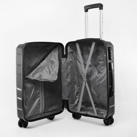 Besty Kis Méretű Fekete Polipropilén Bőrönd S (57x38x23cm)