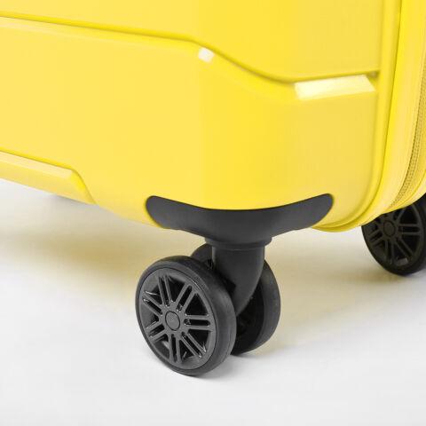 Besty Kis Méretű Sárga Polipropilén Bőrönd (57x38x23cm)