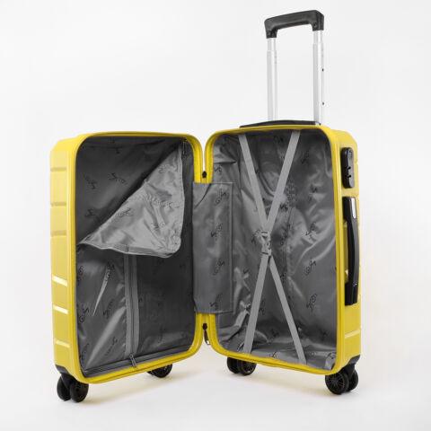 Besty Kis Méretű Sárga Polipropilén Bőrönd S (57x38x23cm)