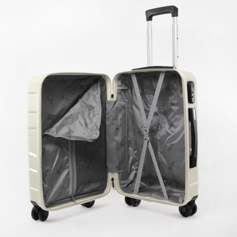 Besty Kis Méretű Vajszínű Polipropilén Bőrönd (57x38x23cm)