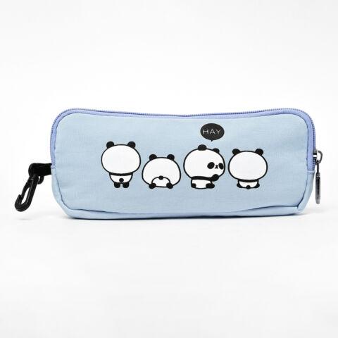 Világoskék Panda Macis Hátizsák Tolltartóval