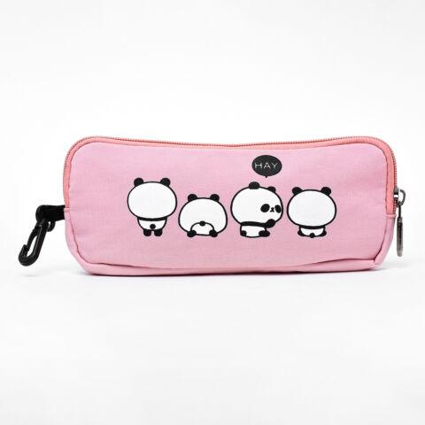 Rózsaszín Panda Macis Hátizsák Tolltartóval