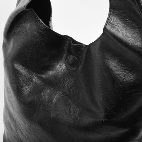 JGL Fekete női rostbőr válltáska
