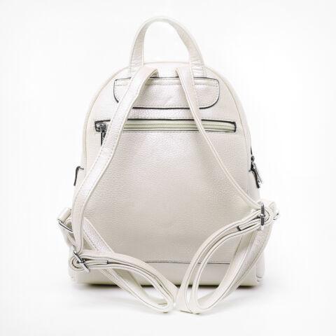 Silvia Rosa Bézs női dupla zipzár kisméretű hátizsák
