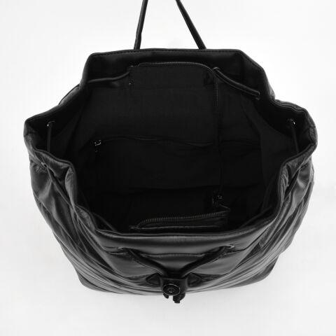DIANA & CO. Fekete Női Metál PVC Hátizsák