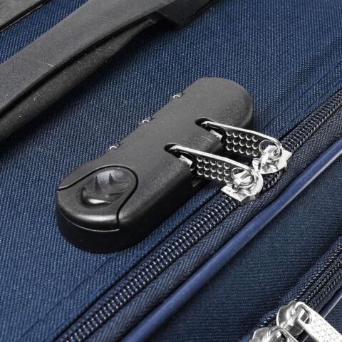 Besty Ultra könnyű sötétkék puha bőrönd szett