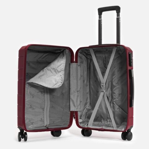 Besty Bordó Polipropilén Wizz Air és Ryanair Méretű Kabinbőrönd (54x33x20cm)