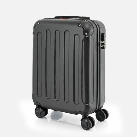 Bontour Fekete Vertical Kabinbőrönd (55x40x20CM) S