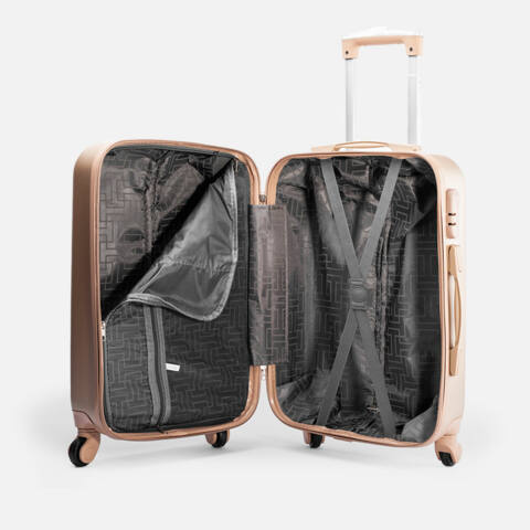 Leonardo Da Vinci Bordó Színű Nagy Bőrönd (4 Kerekű) (75x47x29) L