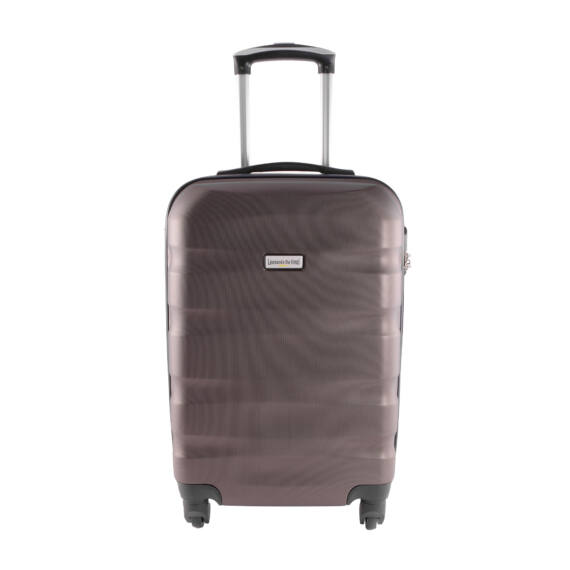 LDV Barna Hullámnyomott ABS Kabinbőrönd (55*37*20 cm)