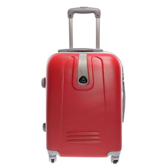Piros Kemény Mini Bőrőnd  (4 Kerekű)
