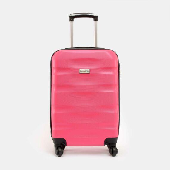 LDV Rózsaszín Hullámnyomott ABS Kabinbőrönd (55*37*20 cm)