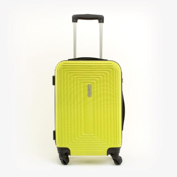 Leonardo Da VInci Közepes Méretű Sárga Műanyag Kemény Bőrönd