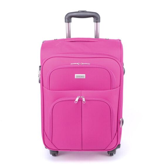 Besty  Közepes Puha Bőrőnd Pink 65cm (4 Kerekű)