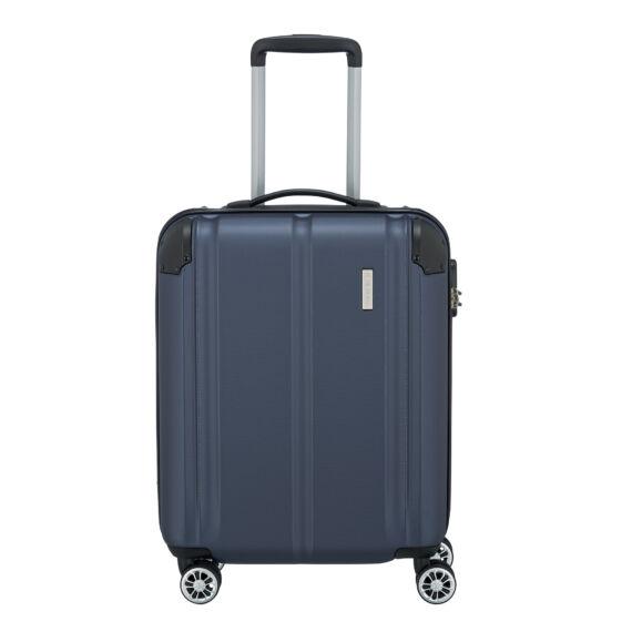 Travelite City Kék Gurulós Közepes Méretű Bőrönd
