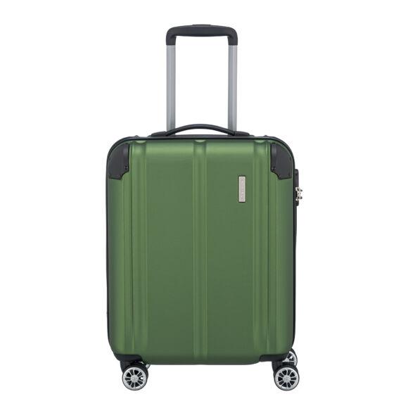 Travelite City Zöld Gurulós Közepes Méretű Bőrönd
