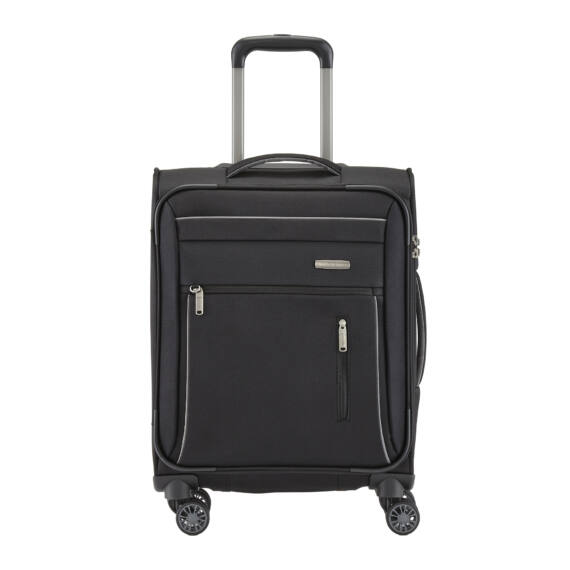Travelite Capri Fekete Gurulós Kis Méretű Bőrönd