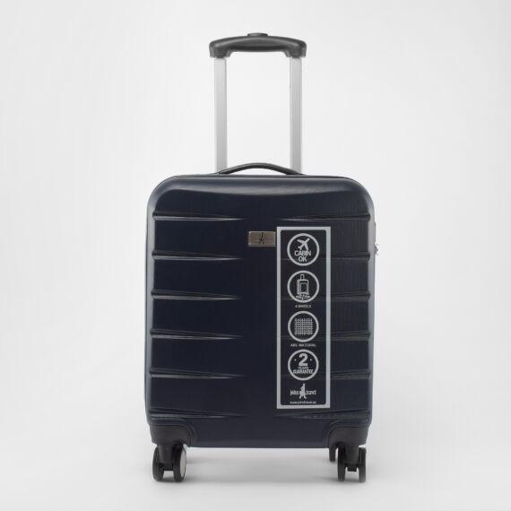 John Travel Sötétkék Kemény falú ABS Kabin bőrönd