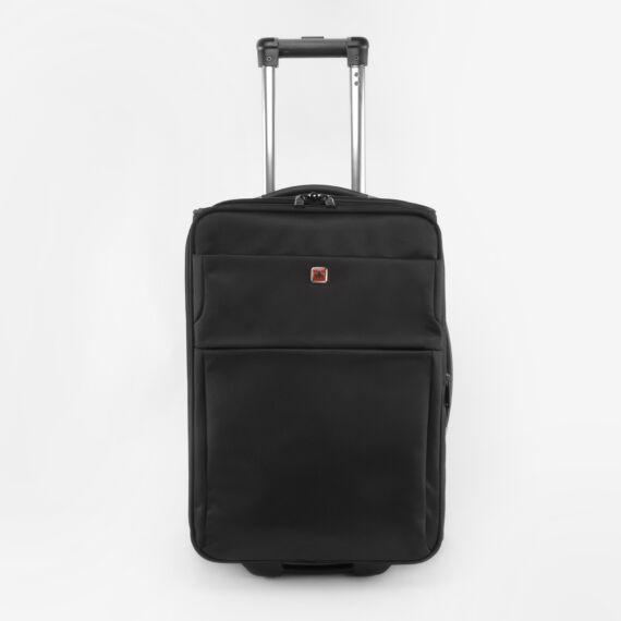 Swisswin Fekete Nagyméretű Kétkerekű Bőrönd