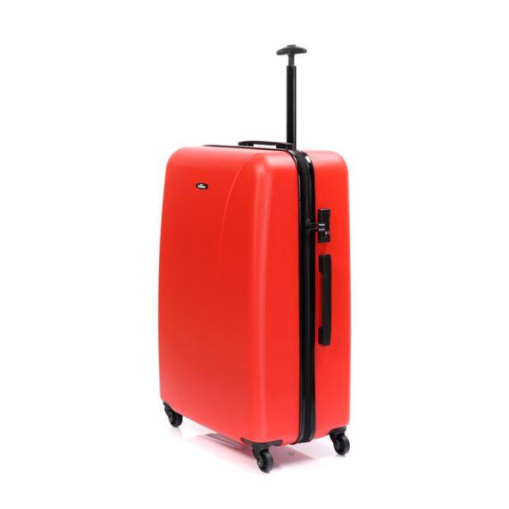 Bontour Piros Könnyű Kemény Négy kerekű Kabinbőrönd - 2 Év Garancia