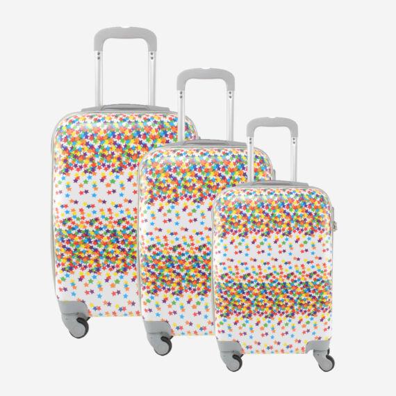 LDV Csillagos Kemény falú Négy kerekű Bőrönd Szett