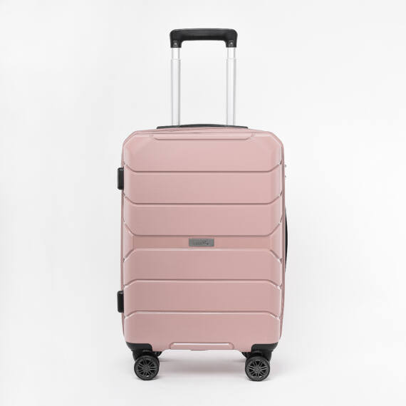 Besty Púder Színű Polipropilén Wizz Air és Ryanair Méretű Kabinbőrönd (54x33x20cm)