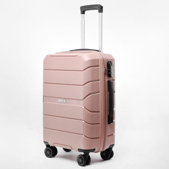 Besty Kis Méretű Púder Színű Polipropilén Bőrönd (57x38x23cm)