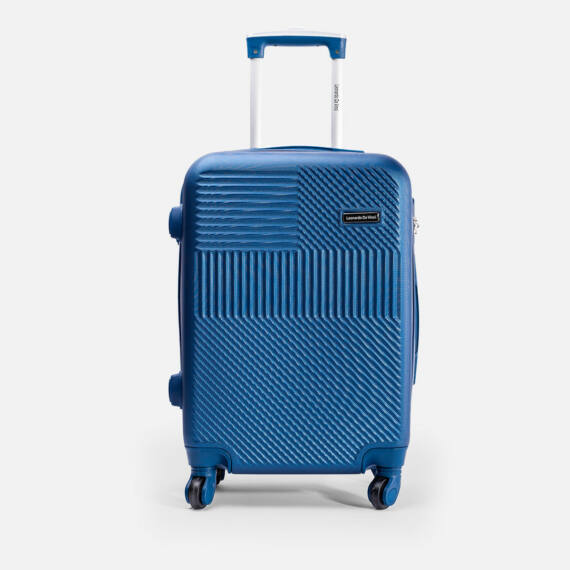 Leonardo Da Vinci Kék Színű Nagy Bőrönd (4 Kerekű) (75x47x29) L