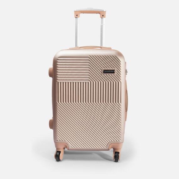 Leonardo Da Vinci Pezsgő Színű Óriás Bőrönd (4 Kerekű) (85x55x32) L