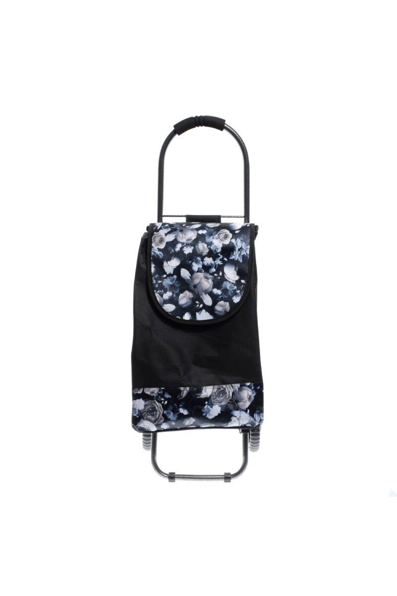 Kék Virág Mintás Kerekes Bevásárlókocsi