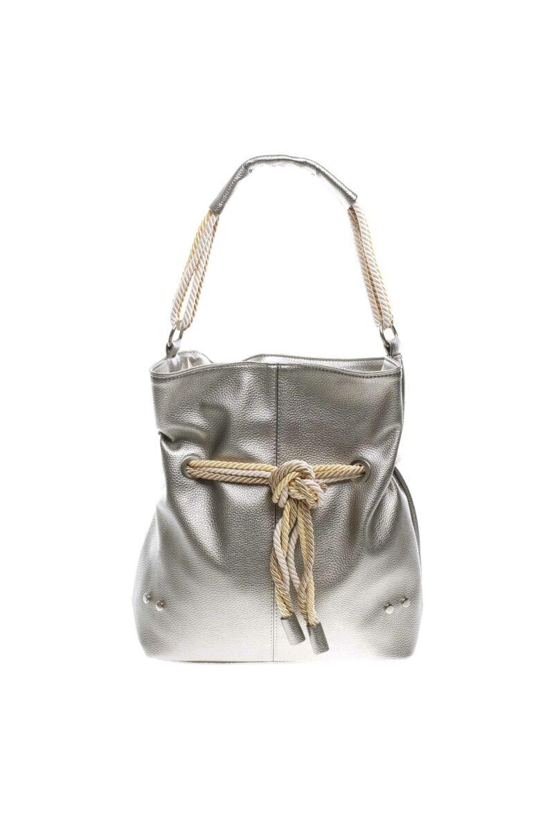 Prestige Ezüst-szürke szín Női Rostbőr Válltáska