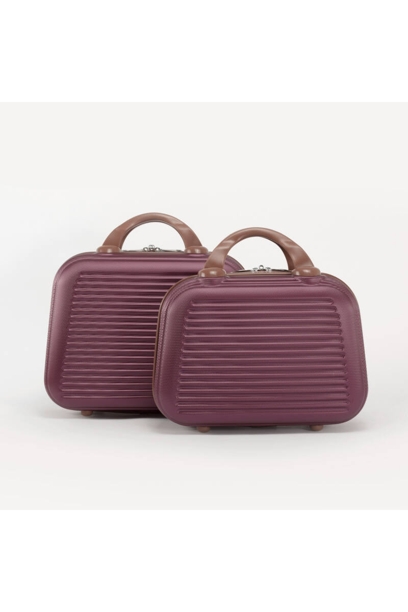 Bordó Bőröndre Akasztható Két Darabos Táska Szett