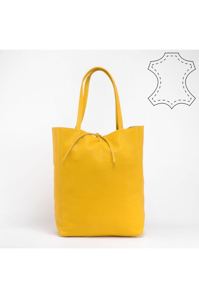 Vivien sárga valódi bőrválltáska