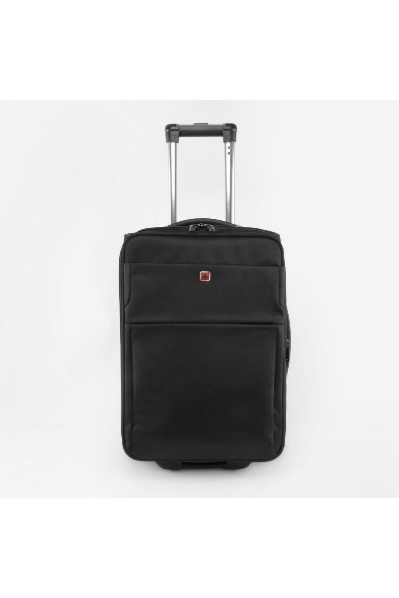 Swisswin Fekete Kisméretű Kétkerekű Kabinbőrönd