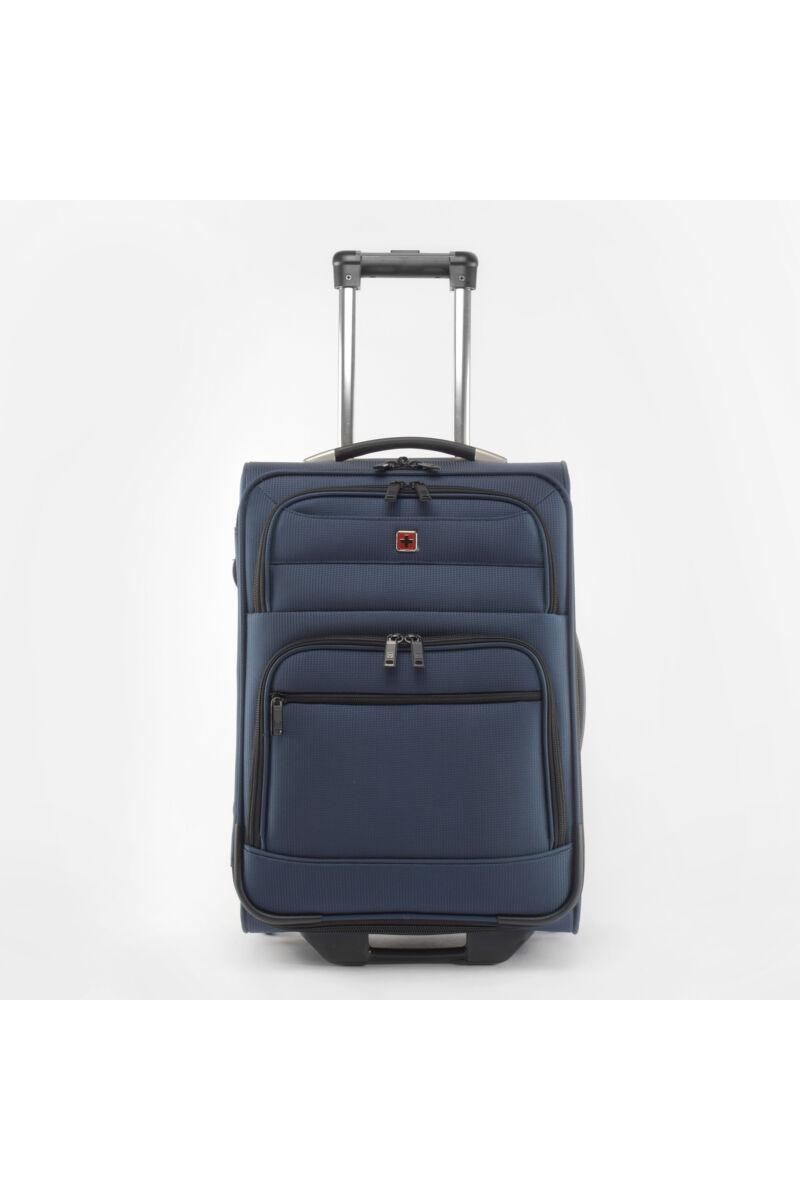 Swisswin Kék Közepes méretű Kétkerekű Bőrönd