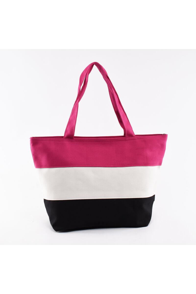 Rózsaszín szövet strand táska